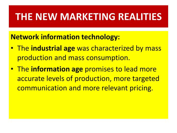 The new marketing realities1