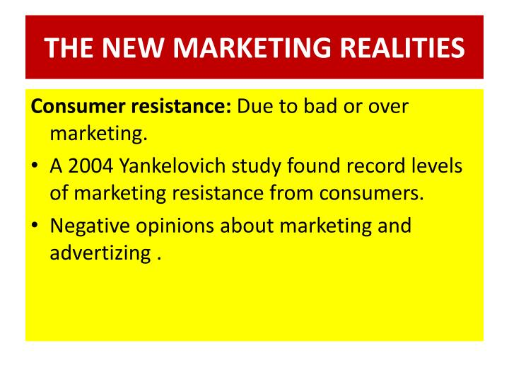 THE NEW MARKETING REALITIES