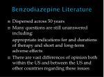 benzodiazepine literature
