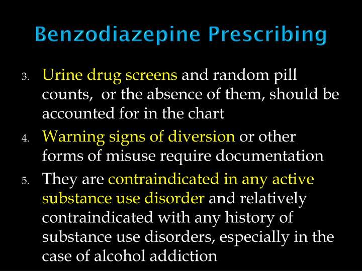 Benzodiazepine Prescribing