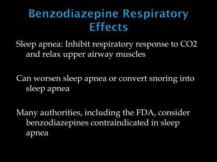 Benzodiazepine Respiratory Effects
