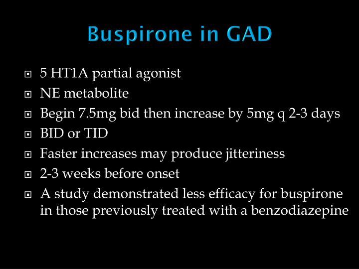 Buspirone in GAD