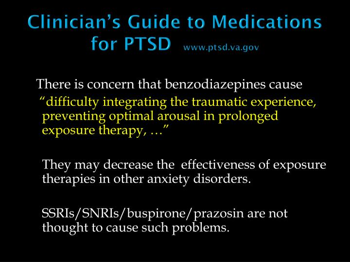 Clinician's Guide to Medications for PTSD