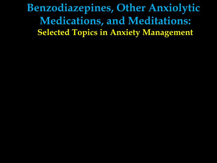 Benzodiazepines, Other