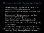 the alprazolam to clonazepam switch herman et al 1997