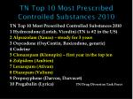 tn top 10 most prescribed controlled substances 2010