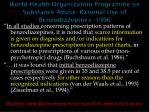 world health organization programme on substance abuse rational use of benzodiazepines 1996