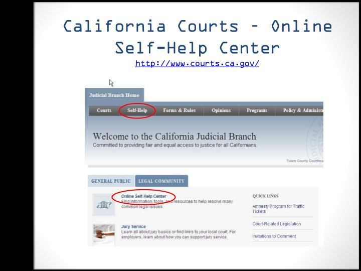 California Courts – Online Self-Help Center