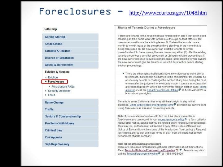 Foreclosures -