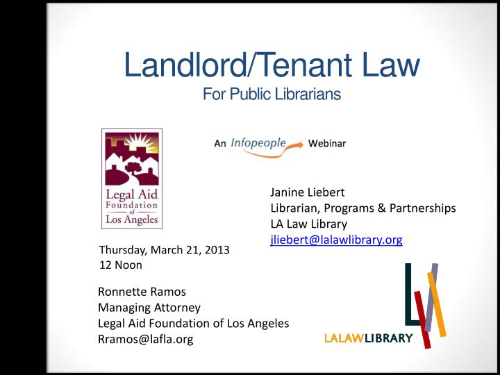 Landlord/Tenant Law