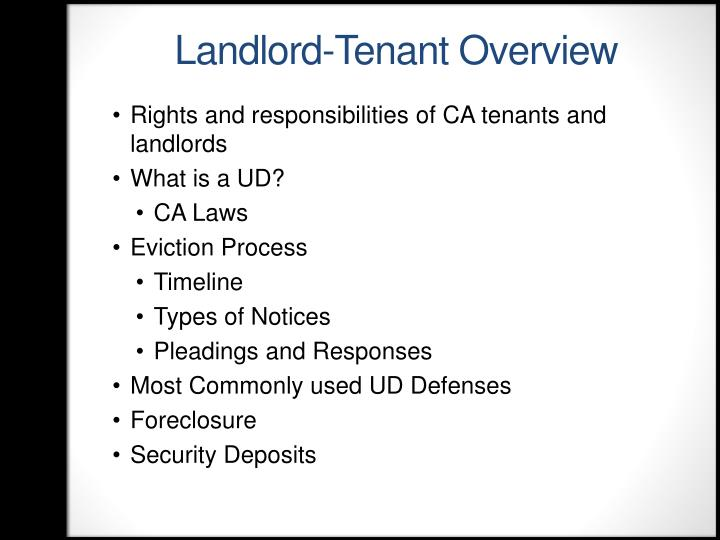 Landlord-Tenant Overview