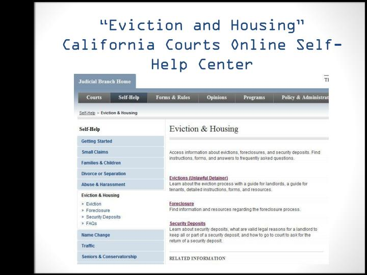 """Eviction and Housing"""