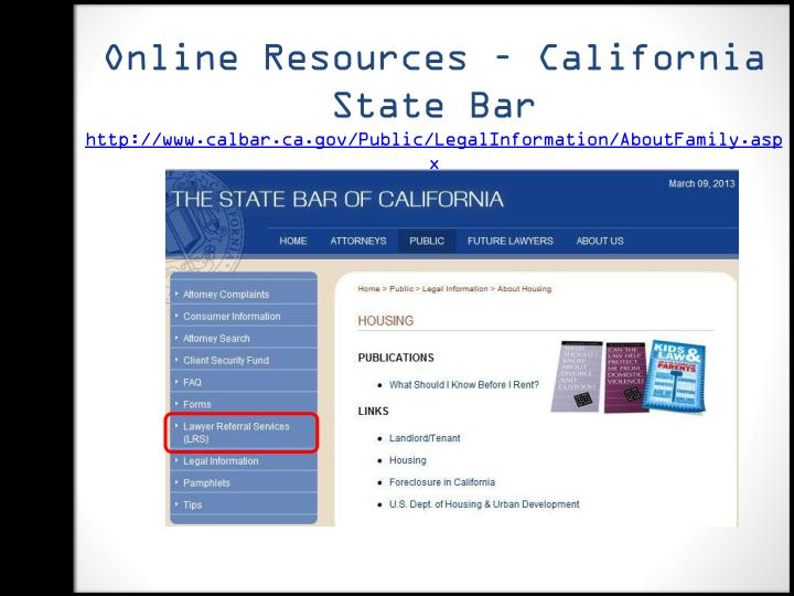 Online Resources – California State Bar