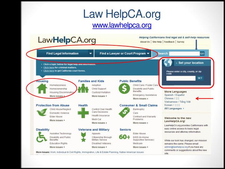 Law HelpCA.org