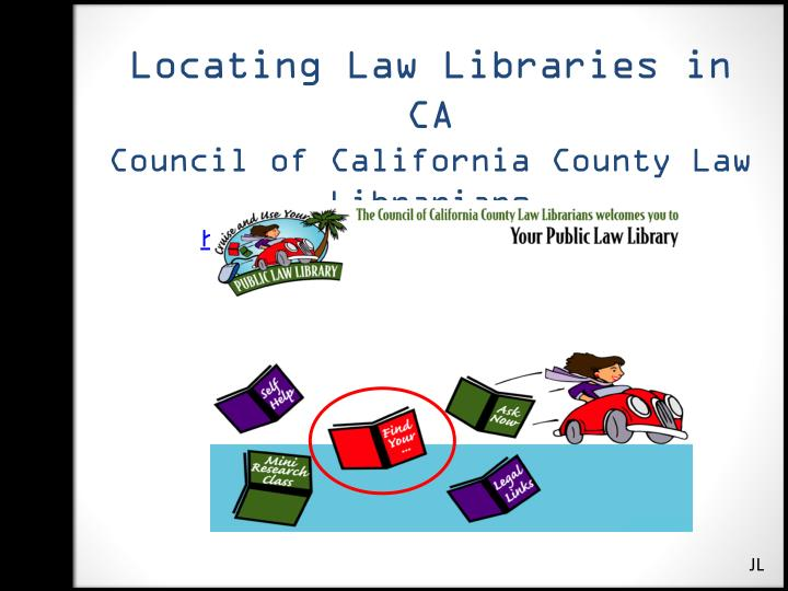 Locating Law Libraries in CA