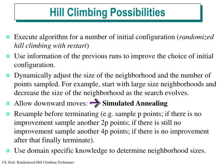 Hill Climbing Possibilities