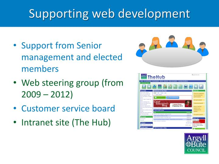 Supporting web development