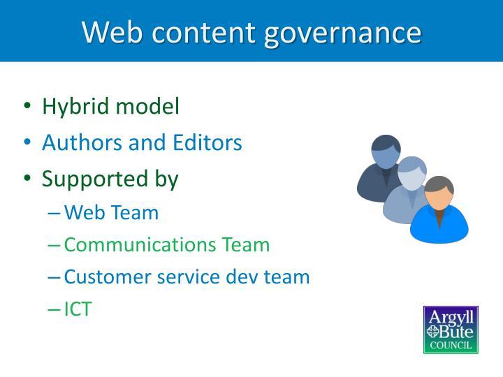 Web content governance