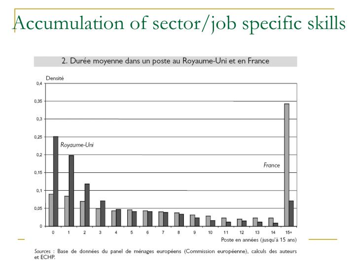 Accumulation of sector/job specific skills