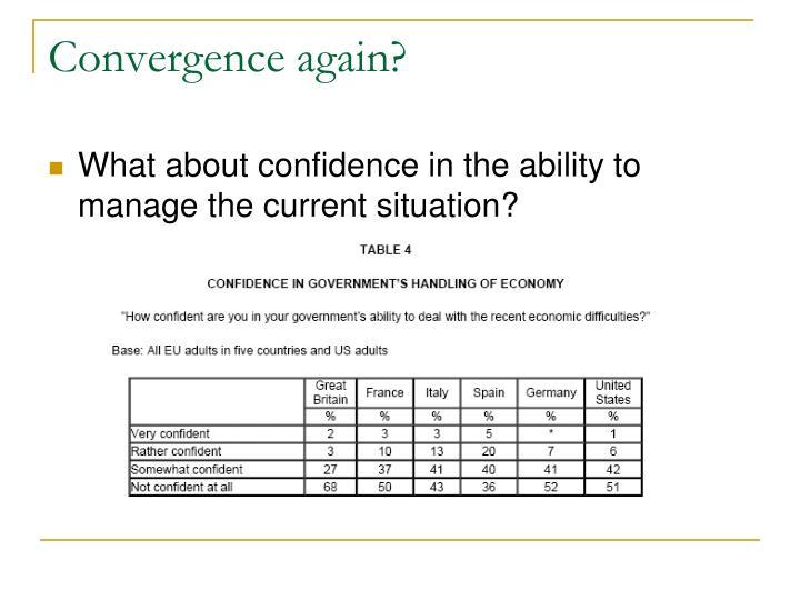 Convergence again?