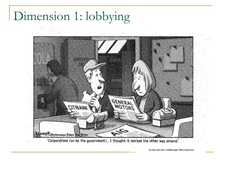 Dimension 1 lobbying