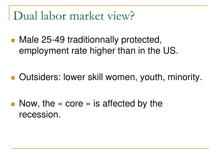 Dual labor market view?