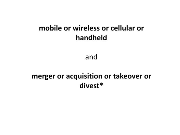 mobile or wireless or cellular or handheld