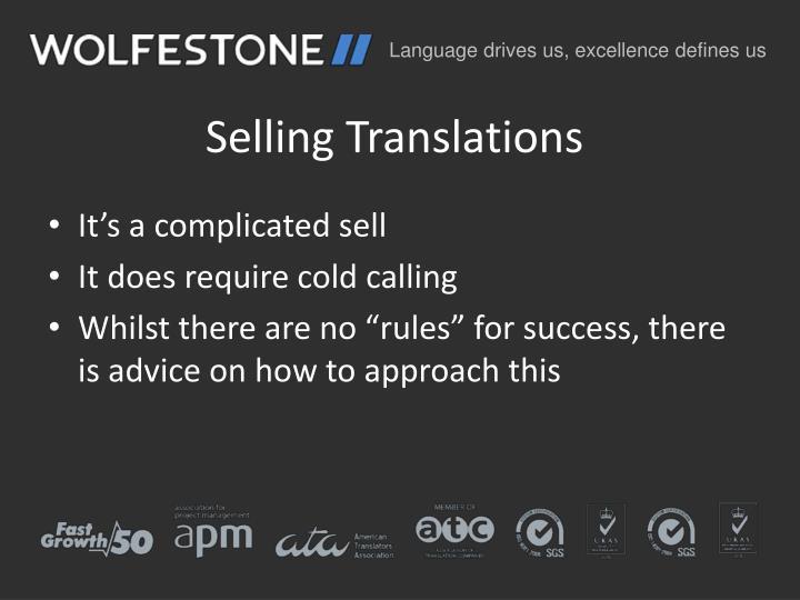 Selling Translations