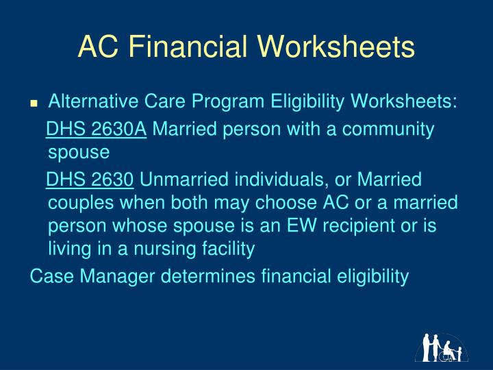 AC Financial Worksheets