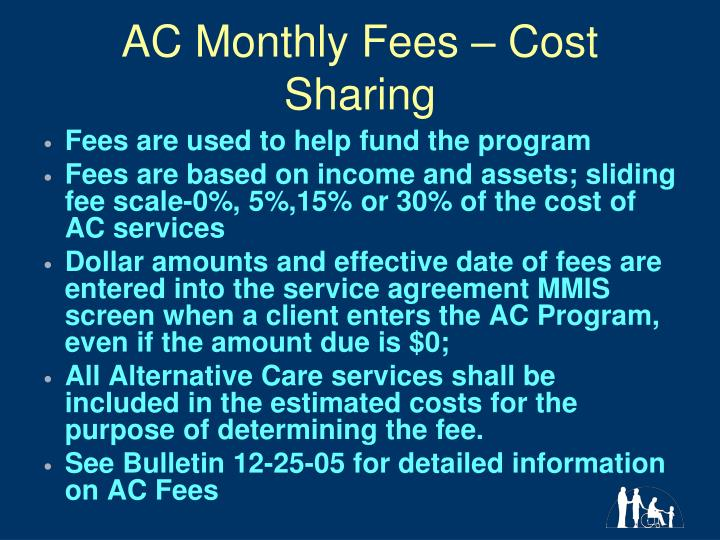 AC Monthly Fees – Cost Sharing