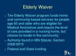 elderly waiver