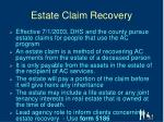 estate claim recovery