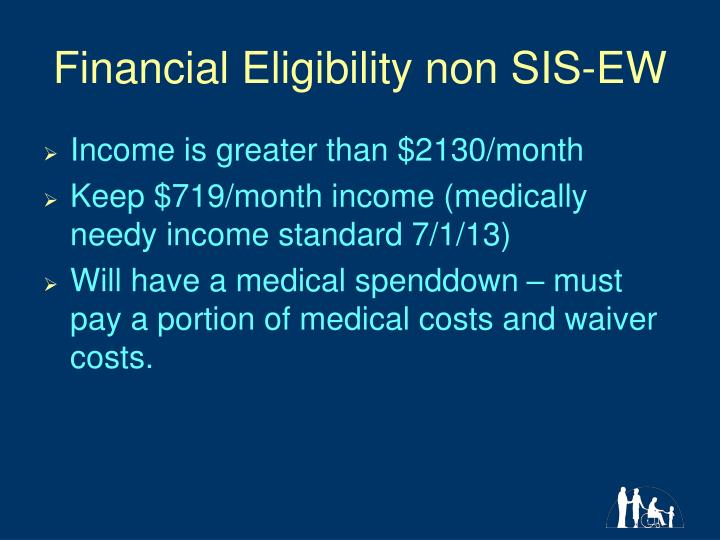 Financial Eligibility non SIS-EW