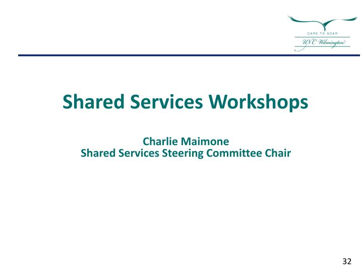 Shared Services Workshops