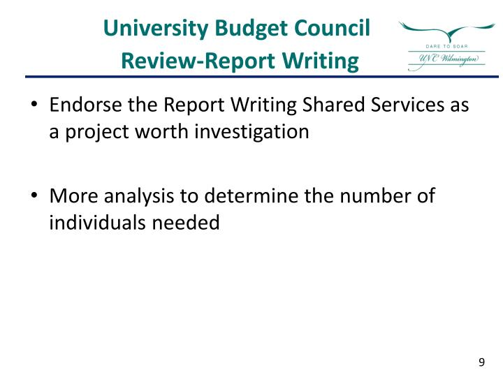 University Budget Council