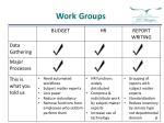 work groups