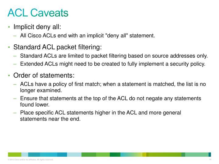 ACL Caveats