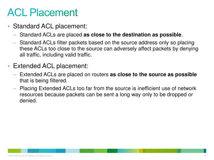 ACL Placement