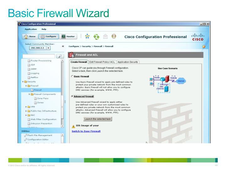 Basic Firewall Wizard