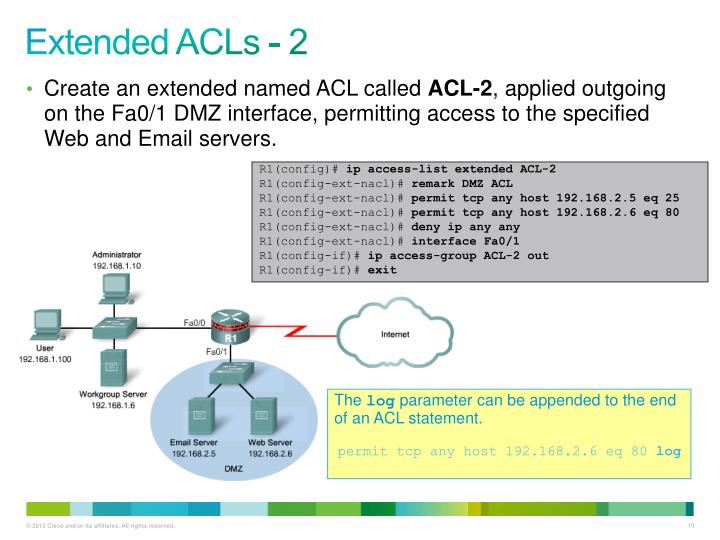 Extended ACLs - 2