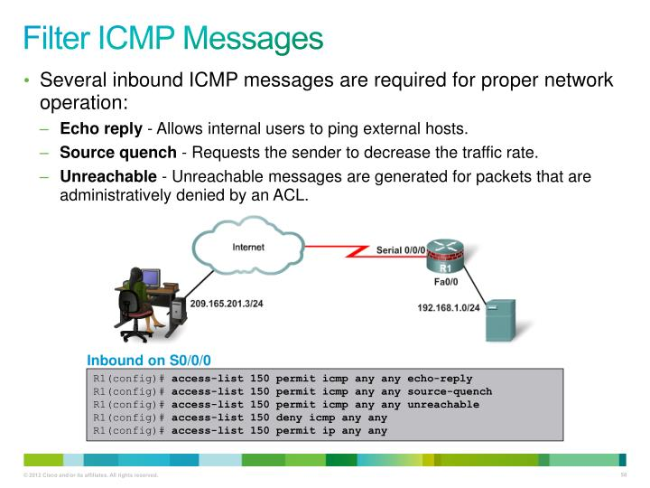 Filter ICMP Messages
