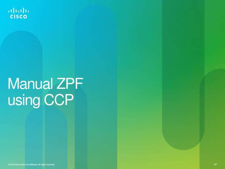 Manual ZPF using CCP