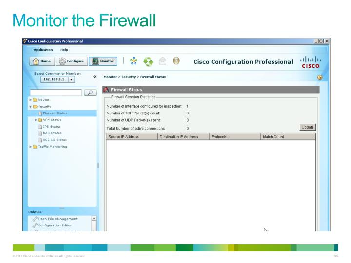 Monitor the Firewall