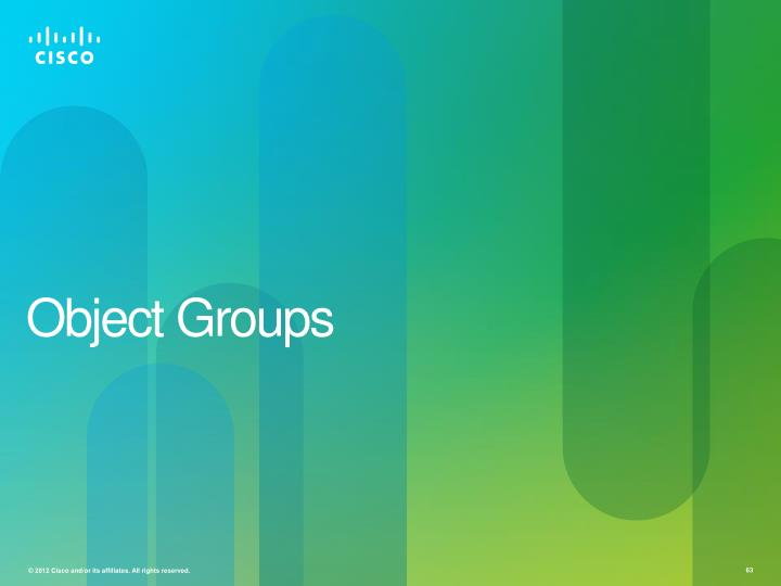 Object Groups