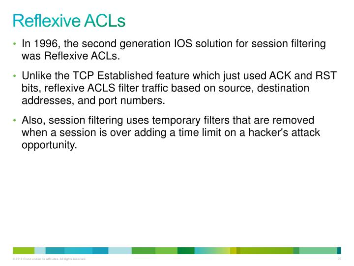 Reflexive ACLs