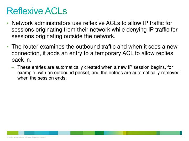 Reflexive ACLs