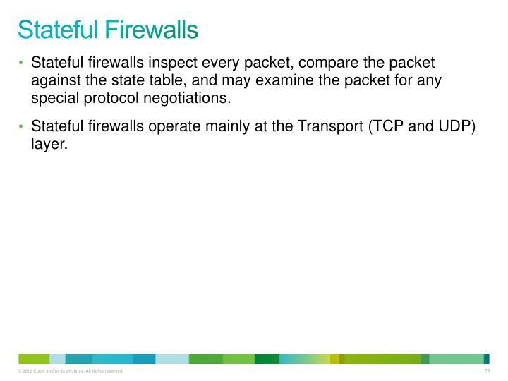 Stateful Firewalls