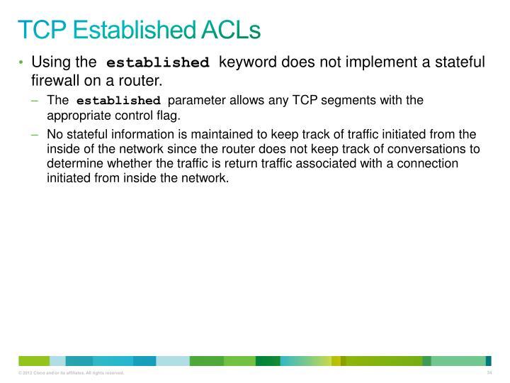 TCP Established ACLs