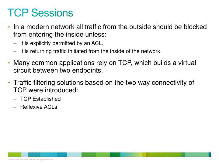TCP Sessions