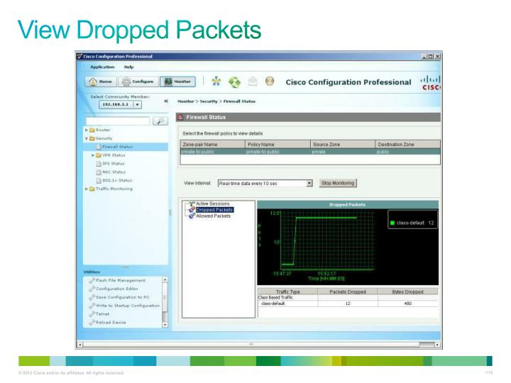 View Dropped Packets